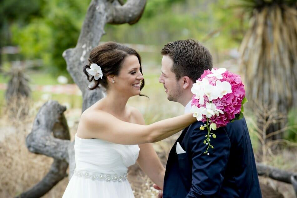 Hochzeitsfotos in den Blumengärten Hirschstetten