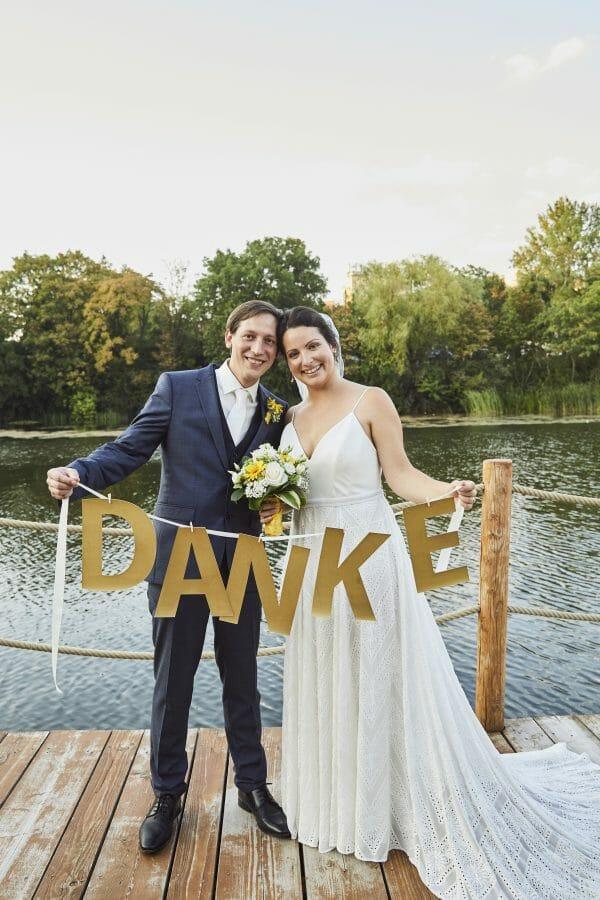 Danke Hochzeitsfoto