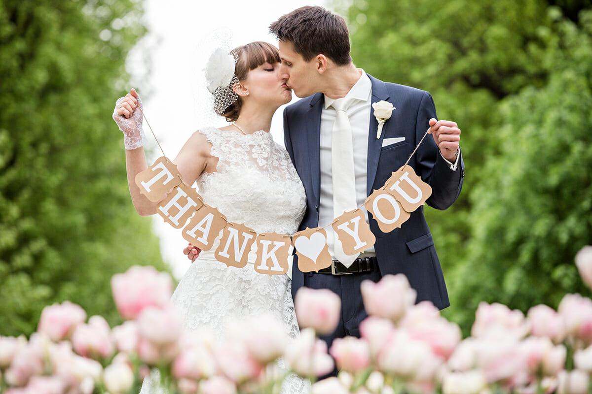Dankeskarte Hochzeitsfoto 02