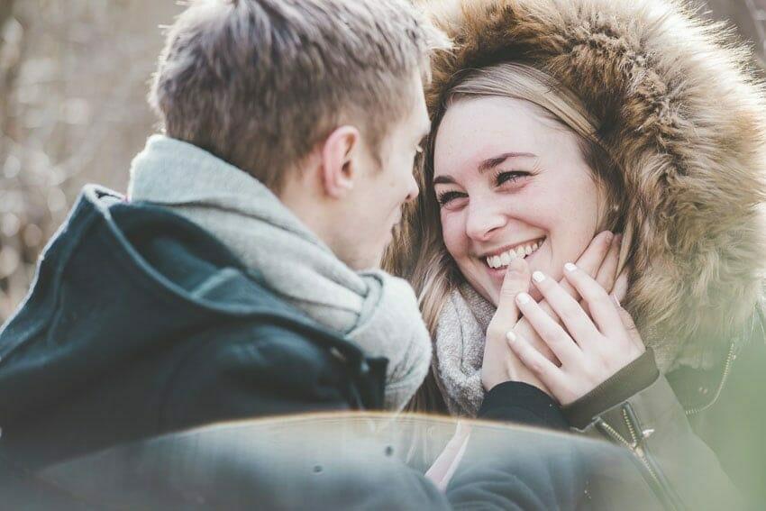 romantische Winterfotoshooting