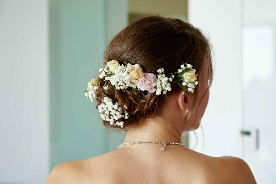 Brautfrisur Hochzeitsfoto