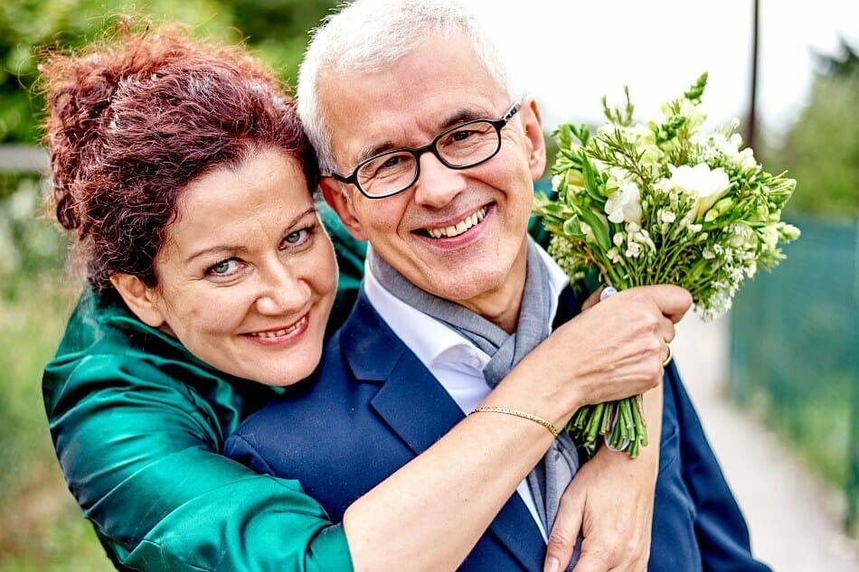 Hochzeitsfotos mit Brille