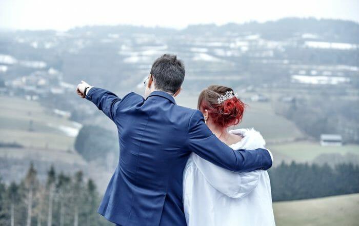 Hochzeitsfotos im Herbst