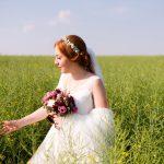 Hochzeitsfoto in der Wiese