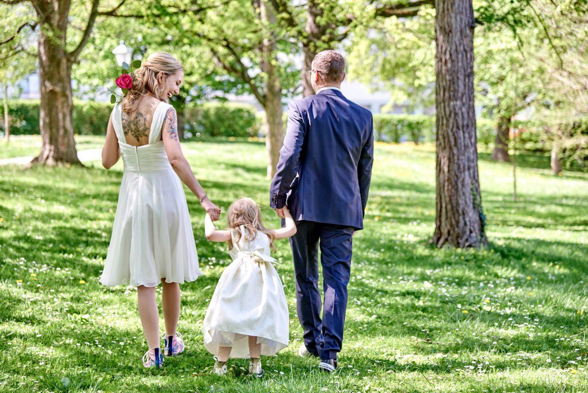 Hochzeitsfotos mit Fun